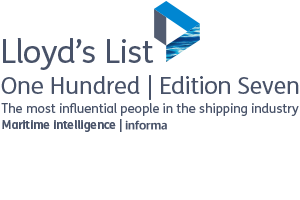 "Lloyd's List 100 ""The most influential people in the shipping industry"" 2016"